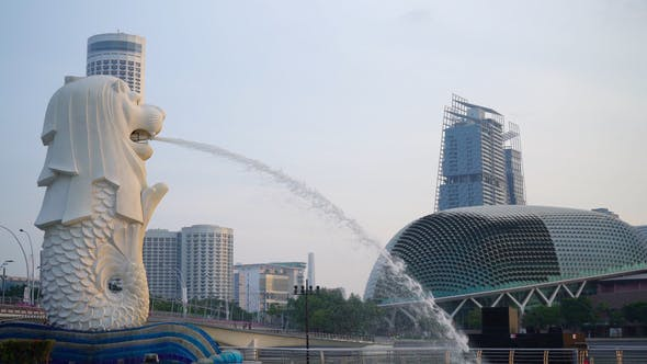 Thumbnail for Merlion In Singapore City