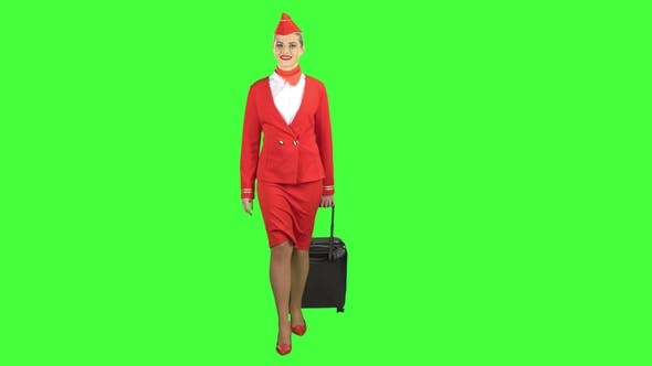 Thumbnail for Stewardess Walks and Rolls the Suitcase