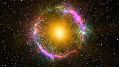 4K Circle Planetary Nebula Orbit