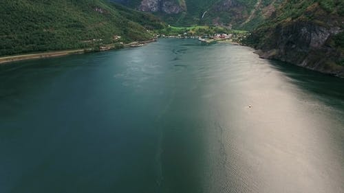 Beautiful Sognefjord or Sognefjorden Nature Norway