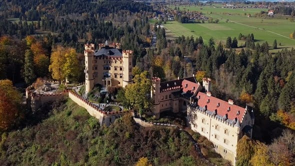Thumbnail for Aerial View of Hohenschwangau Castle, Germany
