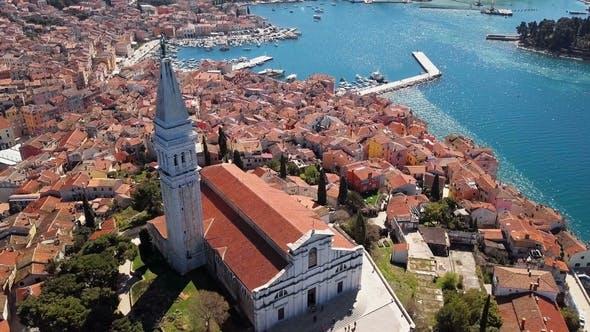 Thumbnail for Flight Around Rovinj Church, Croatia