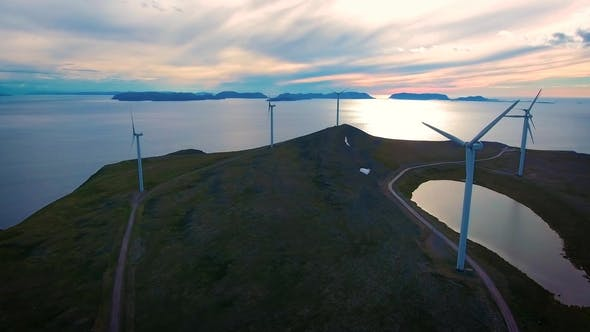 Thumbnail for Windmills for Electric Power Production Havoygavelen Windmill Park Norway