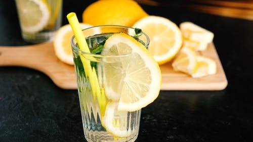 Homemade Lemonade in a Glass with Mint