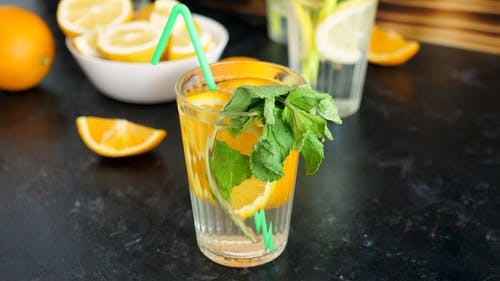Homemade Sweet and Delicious Orangeade with Mint