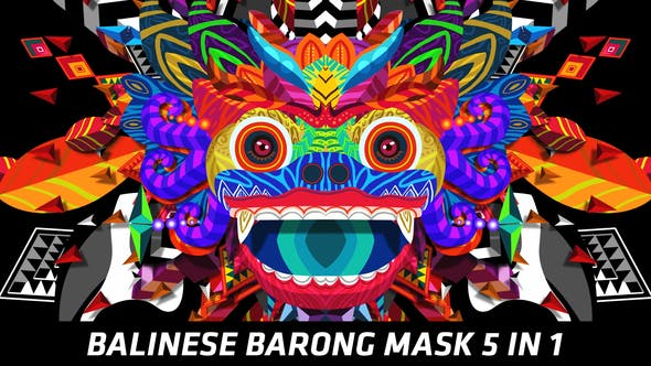Thumbnail for Balinese Barong Mask 5 in 1