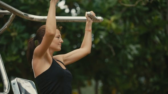 Thumbnail for Woman Exercising in the Outdoor Gym