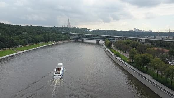 Thumbnail for An Aerial View of the Summer Moskva River