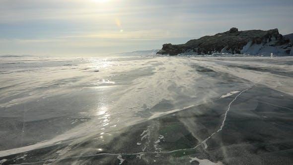 Thumbnail for Winter Baikal. Elenka Island at Sunset
