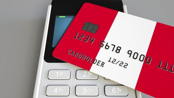 Thumbnail for POS Terminal with Credit Card Featuring Flag of Peru
