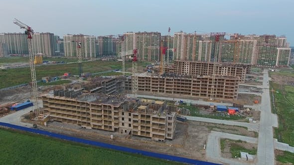 Thumbnail for Aerial View of Construction of New Homes