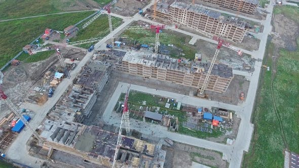 Thumbnail for Construction of New Homes, Aerial View