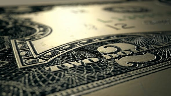 Thumbnail for 4K 2 Dollar Bill Front Close Up Macro Detail 1