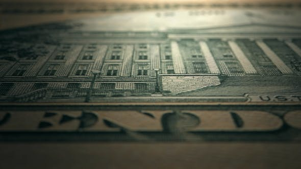 4K 10 Dollar Bill Reverse Close Up Macro Details Scan by footager on