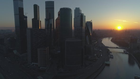 Thumbnail for Moscow City Business Center and Cityscape at Summer Morning. Russia