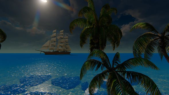 Thumbnail for Sailing Ship And Palms