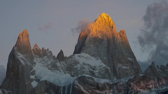 Thumbnail for Mount Fitz Roy and in the National Park Los Glaciares National Park at Sunrise