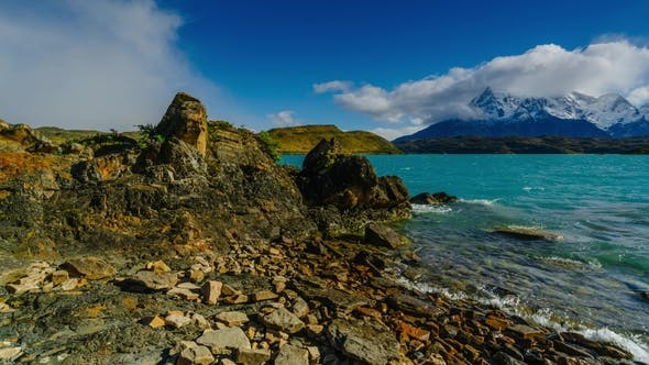 Thumbnail for View of Torres Mountains in the Torres Del Paine National Park After Rain. Autumn in Patagonia