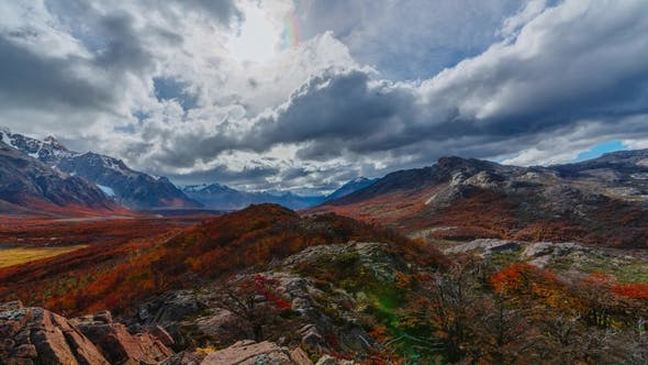 Thumbnail for View on Mountains and the Forest in the National Park Los Glaciares National Park
