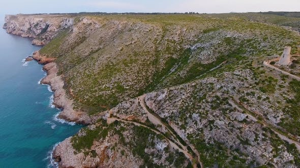 Thumbnail for A View From the Air To the Coast and the Sea Near the City of Denia. District of Valencia