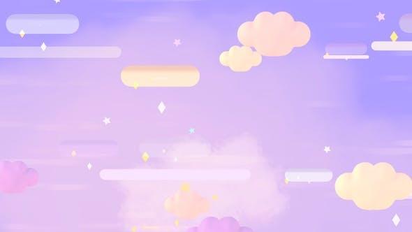 Cartoon Purple Night Sky 1