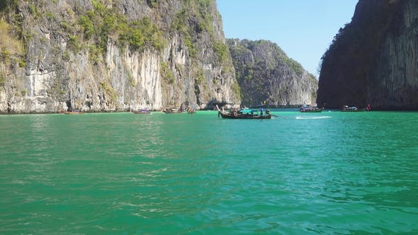 Thumbnail for Floating on Boat in Bay of Phi Phi Leh Island