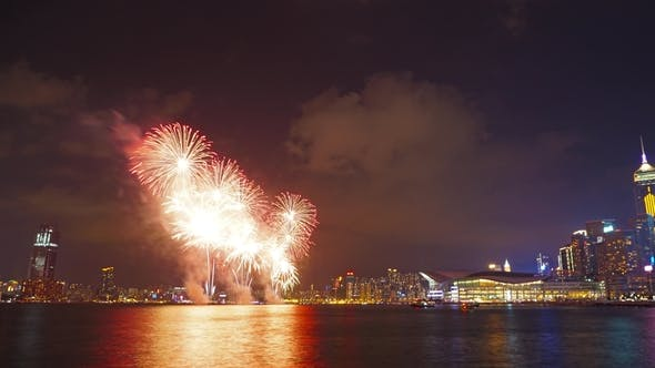 Cover Image for Chinese New Year Fireworks in Hong Kong