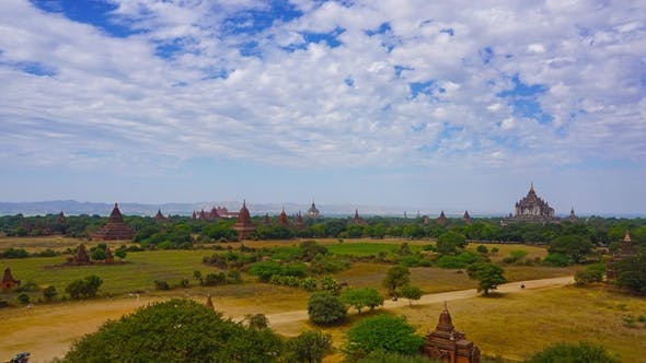 Thumbnail for Landscape with Temples in Bagan, Myanmar