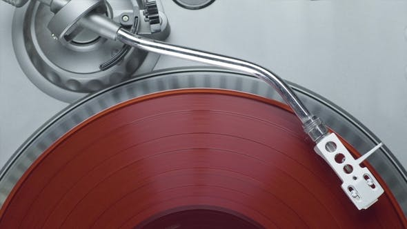 Thumbnail for Red Vinyl Record on the Turntable Player