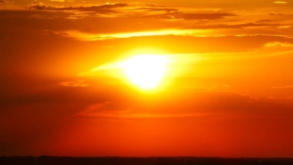 Thumbnail for Sunrise on Dark Cloudy Sky
