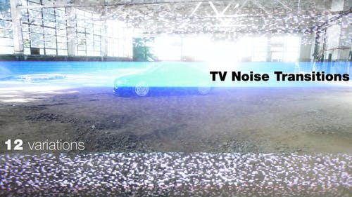 Old TV Noise Signal