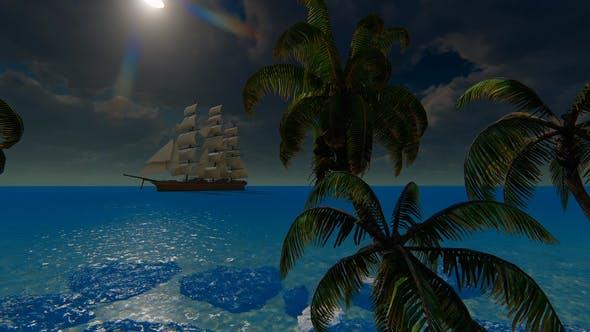 Thumbnail for Sailing Ship And Palms