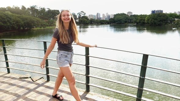 Thumbnail for Pretty Girl on Bridge