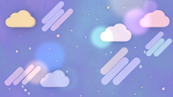 Thumbnail for Cartoon Purple Night Sky 2
