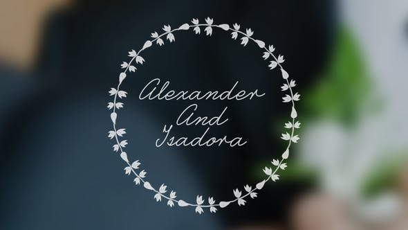 Thumbnail for Wedding Animated Typeface