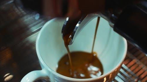 Coffee Espresso Preparation. Stock Footage