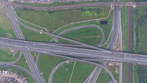 Thumbnail for Aerial View on Modern Road Junction