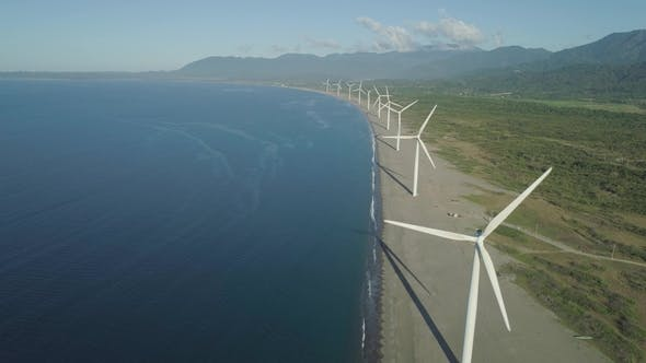 Thumbnail for Solar Farm with Windmills. Philippines, Luzon