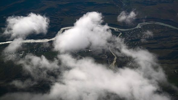 Cover Image for Airplane Window, Cloudy