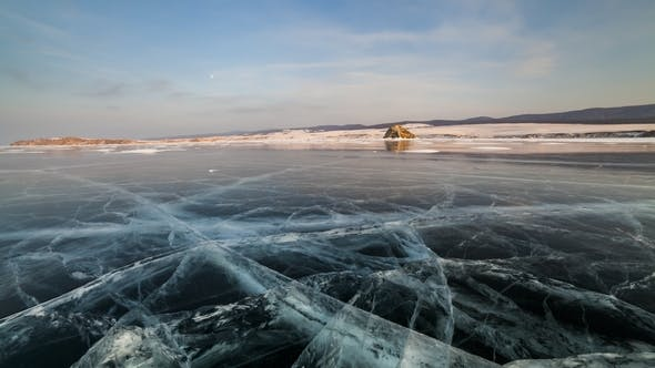 Thumbnail for Sunset on the Ice of Lake Baikal