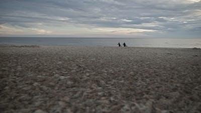 Surfers on Beach