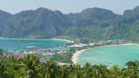 Thumbnail for Phi-Phi Island from Viewpoint at Krabi, Thailand