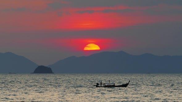 Thumbnail for Sunset Over Sea, Krabi, Thailand