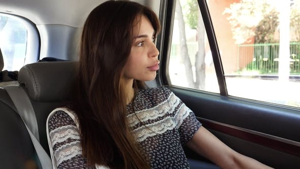 Young Woman in Cab