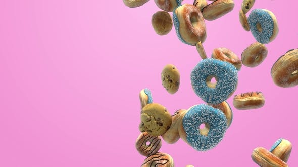 Thumbnail for Different Donuts on a Pink Background