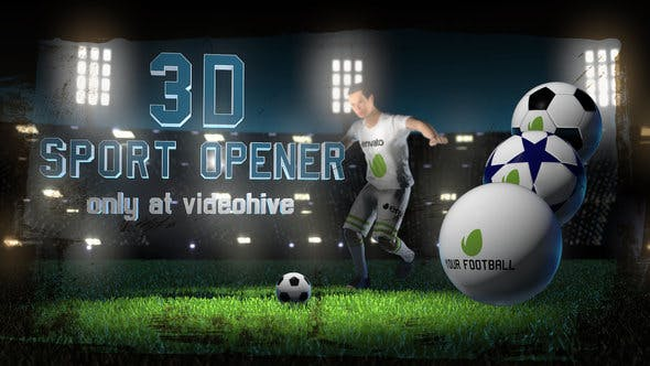 Thumbnail for Soccer Night - 3D Sport Opener