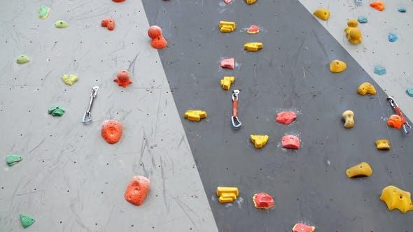 Artificial Climbing Wall. Climbing Wall for Practicing. Rock Climbing Wall.