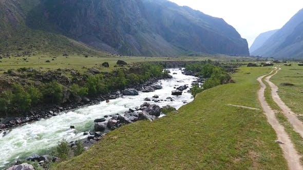 Cover Image for Chulyshman Valley and the River. The Republic of Altai, Russia