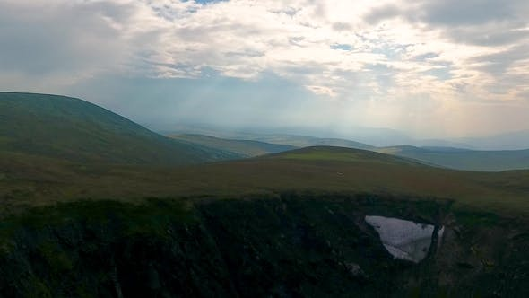 Thumbnail for Ivanovskie Lakes, Waterfall, Glacier After Rain and Before Sunset, Republic of