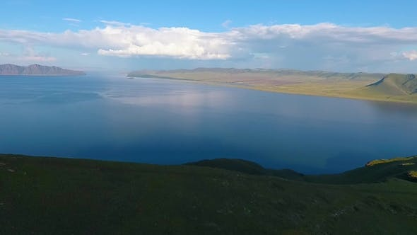 Thumbnail for Green Hills, Cloudy Sky and the Yenisei River in the Republic of Khakassia